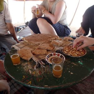 Cooking with nomadic families